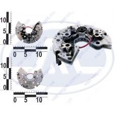 Блок выпрямительный генератора ВАЗ 2108, 1 пров. 6 диодов, ген. 9402.3701, Sens, ЗАЗ 1102 (диодный мост)