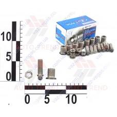 Болт регулировочный клапана ВАЗ 21213 н/о (к-т 8 шт.) в сб. (со втулками и гайками)