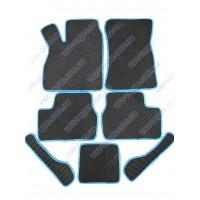Коврики салона ВАЗ 2110-2112, 2170-72 Приора с синей окантовкой