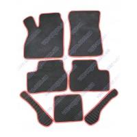 Коврики салона ВАЗ 2110-2112, 2170-72 с красной окантовкой