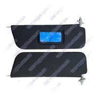 Козырьки ВАЗ 2106 противосолнечные черные с зеркалом