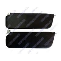 Козырьки ВАЗ 2106 противосолнечные  черные жесткие