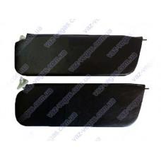 Козырьки на ВАЗ 2106 противосолнечные  черные жесткие